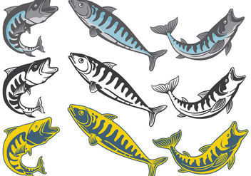Free Mackerel Icons Vector - Free vector #381675