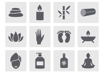Free Spa Icons Vector - vector #381755 gratis
