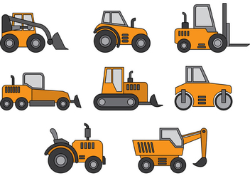 Skid Steer Vector - бесплатный vector #381805