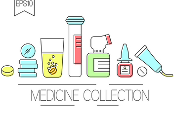 Free Medicine Collection - vector gratuit #381895