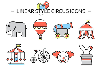 Free Circus Icons - Free vector #381905