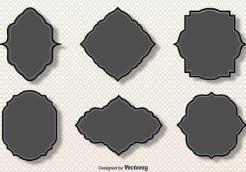 Simple Vector Gray Cartouches - vector gratuit #381945