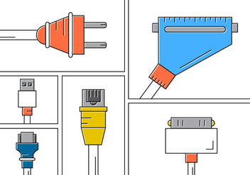 Connection Cables - vector #382015 gratis
