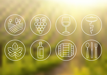 Free Wine Icons - vector gratuit #382025