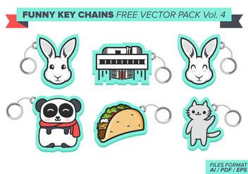 Funny Key Chains Free Vector Pack Vol. 4 - Free vector #382095