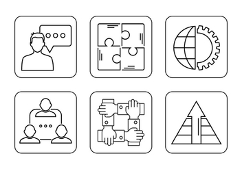 Working Together Icons - vector gratuit #382115