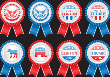 Election Badges - vector gratuit #382215