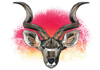 Decorative Kudu Vector - vector gratuit #382315