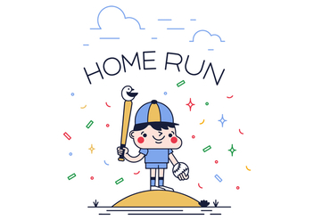 Free Home Run Vector - Free vector #382325