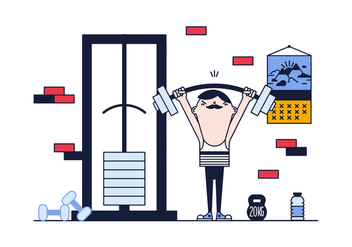 Free Weight Lifting Vector - Kostenloses vector #382345