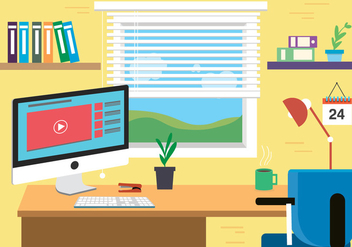 Free Designers Space Vector with a View - vector #382505 gratis