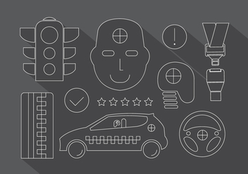 Crash Test Icons - vector gratuit #382535