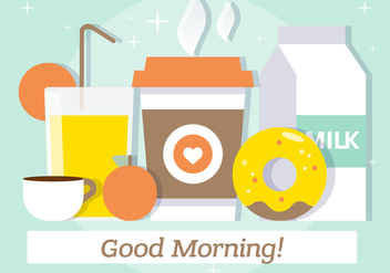 Free Flat Breakfast Vector Illustration - Kostenloses vector #382565