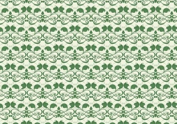 Emerald Vine Vector Western Flourish Pattern - бесплатный vector #382635
