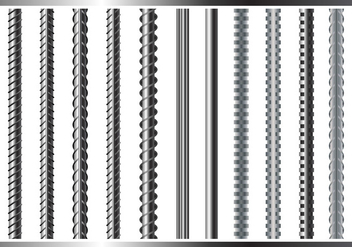 Sreel Rebars Set on White Background - vector #382685 gratis