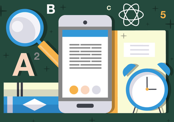 Free Flat Science and Tech Vector Illustration - Kostenloses vector #382705
