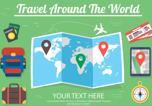 Free Travel Vector Design - vector gratuit #382715