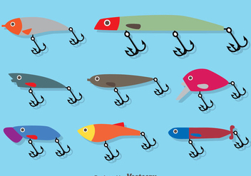 Fishing Lure Flat Vector - vector gratuit #382805