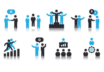 Free Working Together Icons - vector #382815 gratis