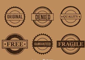 Commercial Brown Stamp Vector - vector #382825 gratis