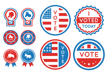 Voting and Presidential Election Element Set - vector gratuit #382965