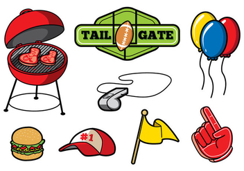 Free Tailgate Party Vector - vector gratuit #382975