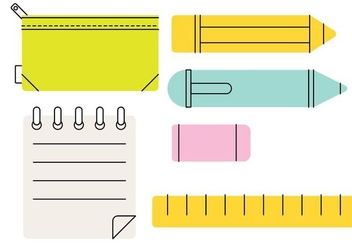 Pencil Case Stylized Vector - vector gratuit #382985