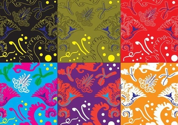 Color Acanthus Texture - бесплатный vector #383015