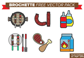 Brochette Free Vector Pack - бесплатный vector #383065