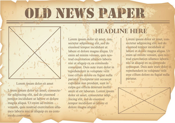 Old Newspaper Vector - vector gratuit #383145