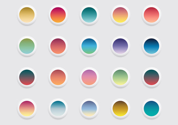 Free Rounded Linear Gradient Icons Vector - vector #383195 gratis