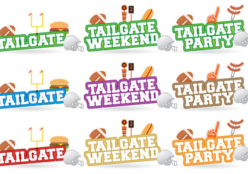 Tailgate Titles - vector gratuit #383205