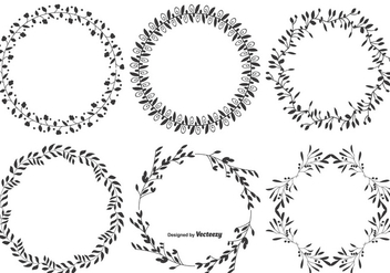 Decorative Vector Leaf Frames - vector #383235 gratis