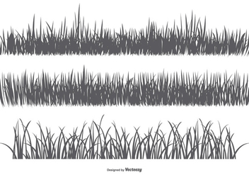 Vector Grass Silhouettes - Free vector #383265