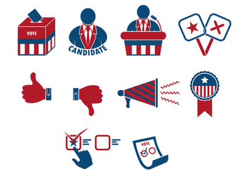 Set Of Presidential Elections Icon - vector gratuit #383305