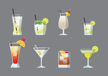 Free Cocktails Vector - бесплатный vector #383315