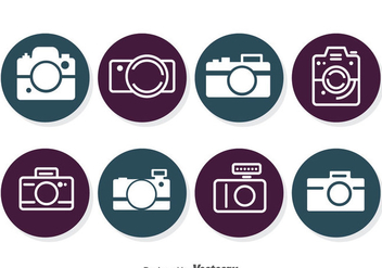 Camera Circle Icons - vector gratuit #383345