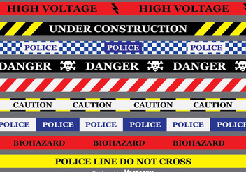 Danger tape Collection Vector - vector gratuit #383365