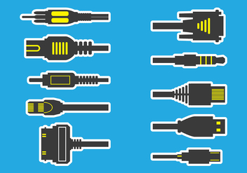 RJ45 Icons - Free vector #383395