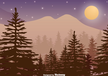 Colorful Forest Background Vector - vector #383415 gratis