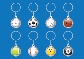 Key Chains Ball - бесплатный vector #383455