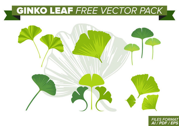 Ginko Leaf Free Vector Pack - Kostenloses vector #383535