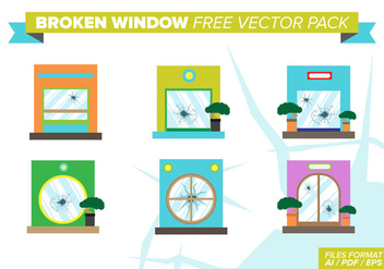 Broken Windows Free Vector Pack - vector #383565 gratis