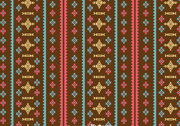 Ethnic Seamless Brown Background - vector #383615 gratis