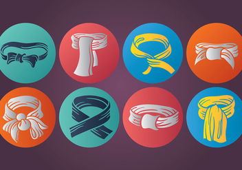 Free Cravat Icons Vector - Free vector #383675
