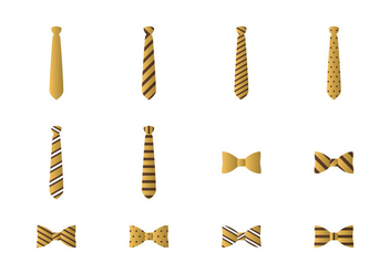 Vector Icon Tie And Bow Tie - vector gratuit #383695