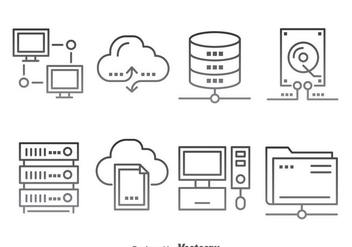 Cloud Computing Icons Vector - vector gratuit #383715
