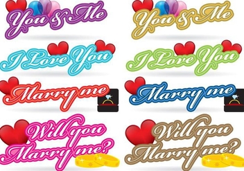 Love Titles - vector gratuit #383795
