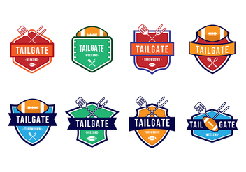 Free American Football Tailgate Party Badges - бесплатный vector #383865