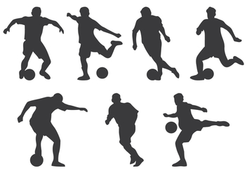Futsal Player Silhouette - Free vector #383885